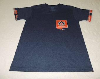Alabama and Auburn pocket T-shirts w/rolled sleeves
