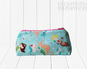 Zippered Flat Bottom Case Mermaid Princess