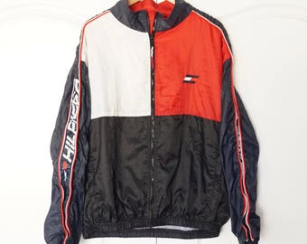 Vintage 90s ASAP Tommy Hilfiger Colorblock Windbreaker Size XL Jacket spell out
