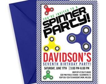 Fidget Spinner Invitation, Fidget Spinner, Spinner Invitation, Fidget Spinner Party, Spinner Party, Spinner Birthday, Hand Spinner   636
