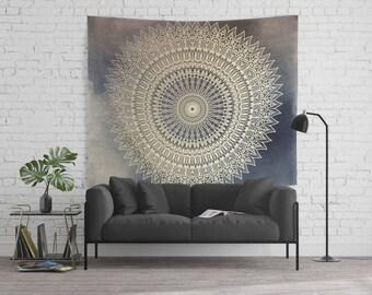 DESERT SUN MANDALA Wall Tapestry