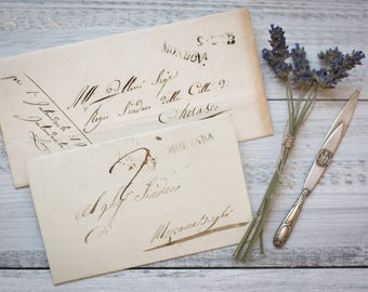 Two antique Italian letters 1800s (005)