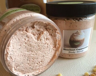 HAZELNUT CAPPUCCINO Dead Sea Salt Scrub-Handmade SPA Uptown Vegan