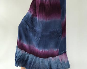 SK00 Bohemian Skirt. Long skirt, boho style, Beach Skirt, Tiedye, maxi Tiedye
