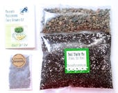 DIY Microgreens Kit - Organic Seeds, Soil Mix and Instructions - You Provide the Planter - Indoor Garden Culinary Gourmet Vegan Gift Kit