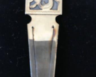 Vintage Sterling Silver Engravable Money Cash Clip Bill Holder Guatemala Signed
