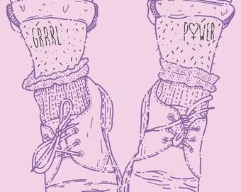 Girl Power Feminist Art Print