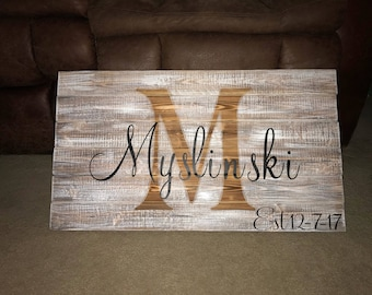 Mr & Mrs. EST Marriage Sign