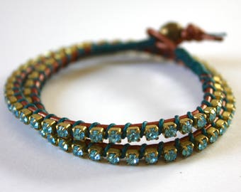Double Blinglet Wrap Bracelet
