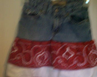 Recycled Old Navy Jeans into a Jean Skirt Little Girls Size 6 Slim