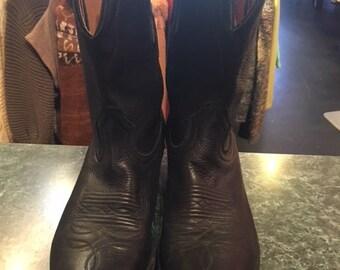 BOULET Men Black Cow Boy Boots