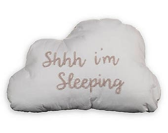 cloud pillow, sleeping pillow, baby pillow, grey pillow, grey cloud