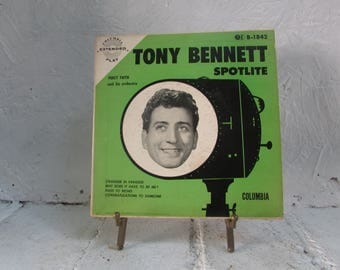 COLUMBIA  EXTENDED Play Tony Bennett 45 RPM & Cover Spotllite, Percy Faith and his orchestra