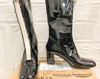 Calvin Klein Collection Patent Zip Boots -Size 8