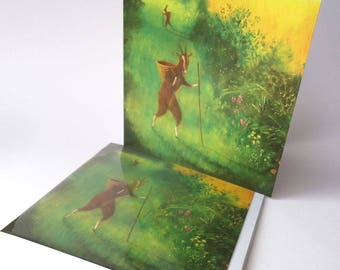 """This listing is for a Single Greetings Card: """"The Green Lane"""""""