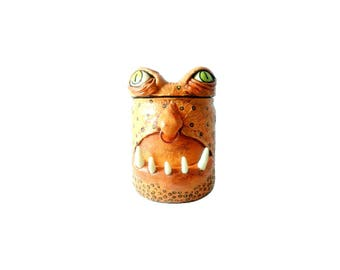 Monster Stash Jar, monster jar with glow in the dark teeth