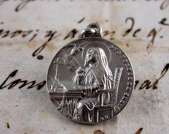 Saint Teresa of Avila Medal - Silver 750 - Spain - Catholic Religious