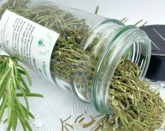 rosemary organic herbs in a glass spice jar dried rosemary culinary herbs - Glass Spice Jars