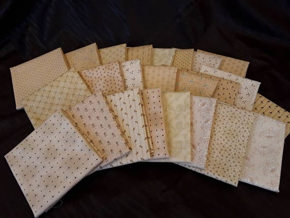 Kim Diehl Neutral Background Quilt Fabrics. 24 Half Yard Cut Bundle. Hand Cut And Gently Folded. Popular Collection of Butter Churn Basics