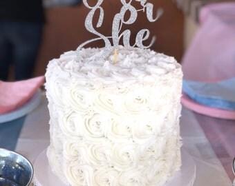 Custom Glitter Cardstock Cake Topper
