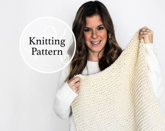 Knitting Pattern Brentwood Baby Blanket Instant Download