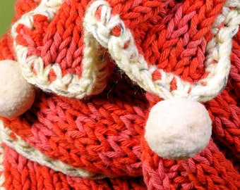 Cotton scarf, pure cotton scarf, natural cotton scarf, red scarf, women scarf