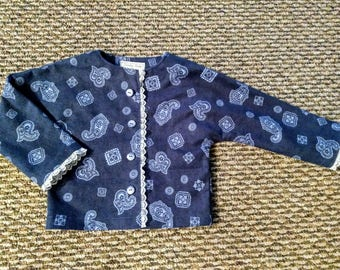 Flannel Top for Toddler Girl