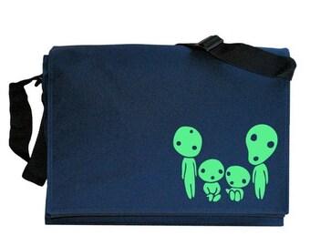 ON SALE Kodama Family Glow in the Dark Navy Blue Messenger Shoulder Bag