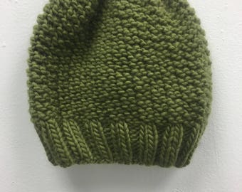 LOCAL PICKUP ONLY--Green Beanie