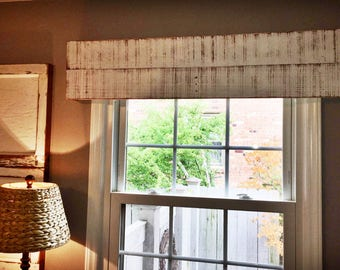 "Handmade Window Valance 48""//Custom Window Treatment//Wooden Cornice Box//Rustic Window Valance//Rustic Cornice Board//Custom Cornice Boards"