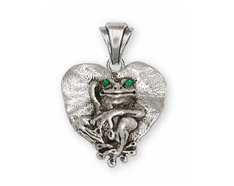 Frog Pendant Jewelry Sterling Silver Handmade Frog Pendant FG25-XP