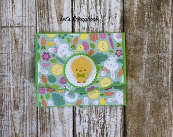 Easter tags easter bunny gift tags party favors thank you gift card holder card holder gift card easter easter gift handmade negle Images