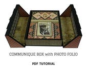 Communique Box with Photo Folio PDF Tutorial, Mini Album Tutorial, Scrapbook PDF Tutorial, Scrapbook Mini Album PDF Tutorial