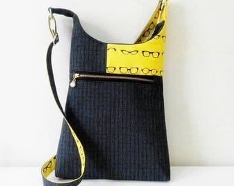 PDF- hipster / cross body bag - casual wear- 2 sizes for tall or petite women. Quick and easy to follow pattern.