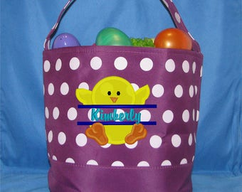 Personalized Easter Basket, Easter Bucket, Girls Easter Basket, Boys Easter Basket, Monogrammed Easter Basket, Easter Tote, Name Basket