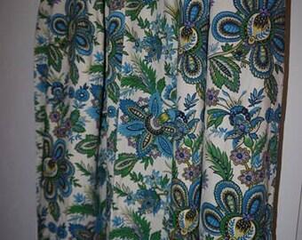 "Curtains - 2 panels - Roomaker Original - Screenprint - ""AliBaba"" - Vintage -"