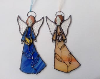 Stained Glass Angel. Hanging Angel. Tiffany style. Guardian angel. Confirmation gift. Christmas ornaments. Christmas gift.