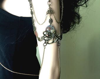 Steampunk Arm Chains. Armbands. Armlet. Steampunk - Boho Style Jewelry. Arm Bands. Pair of Arm Chains