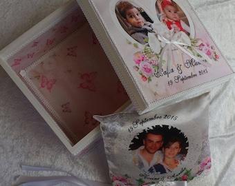 box has custom wooden wedding keepsake