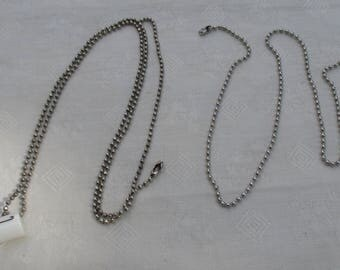 Lot Of Ball Chain Necklaces One With Coffee Cup Initial L Pendant