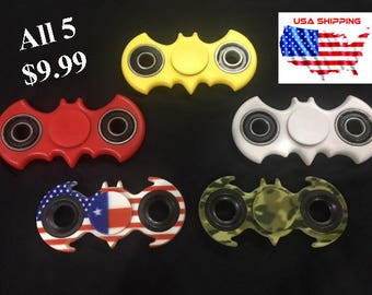 Hand spinner Tri fidget Batman pack toy EDC **Super Stocking Stuffer**