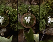 Les Kodamas (sylvain) de princesse Mononoke bracelet, pendentif, porte clé (phosphorescent )
