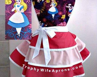 Apron # 1217 - Alice in Wonderland retro apron