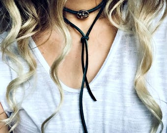 Bohemian Wrap Leather Choker