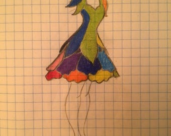 Womens Rainbow Fairy Costume