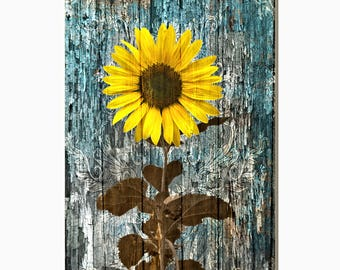 Sunflower decor etsy for Ica home decor