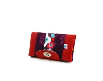 Checkbook cover and original red colorful cards