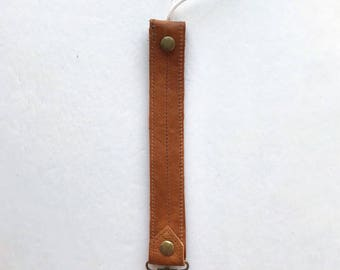 Leather Pacifier Clip - Pacifier Clip - Genuine Leather Clip - Binkie Clip - Paci Clip - Passy Clip - Paci - Toy Holder