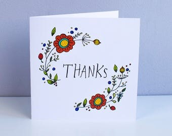 Thank You – Square Greetings Card