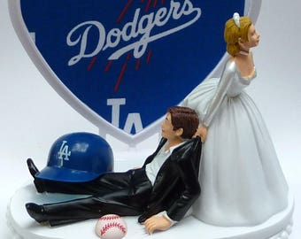 angels baseball wedding cake topper dodgers cake topper etsy 10763